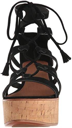 FRYE Women's Heather Gladiator Black Suede Wedge