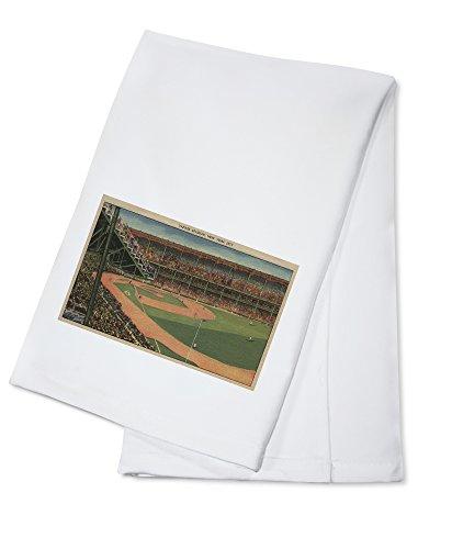 New York, NY - Yankee Stadium During Baseball Game (100% Cotton Kitchen Towel)