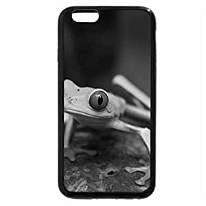 iPhone 6S Plus Case, iPhone 6 Plus Case (Black & White) - Little green Frog