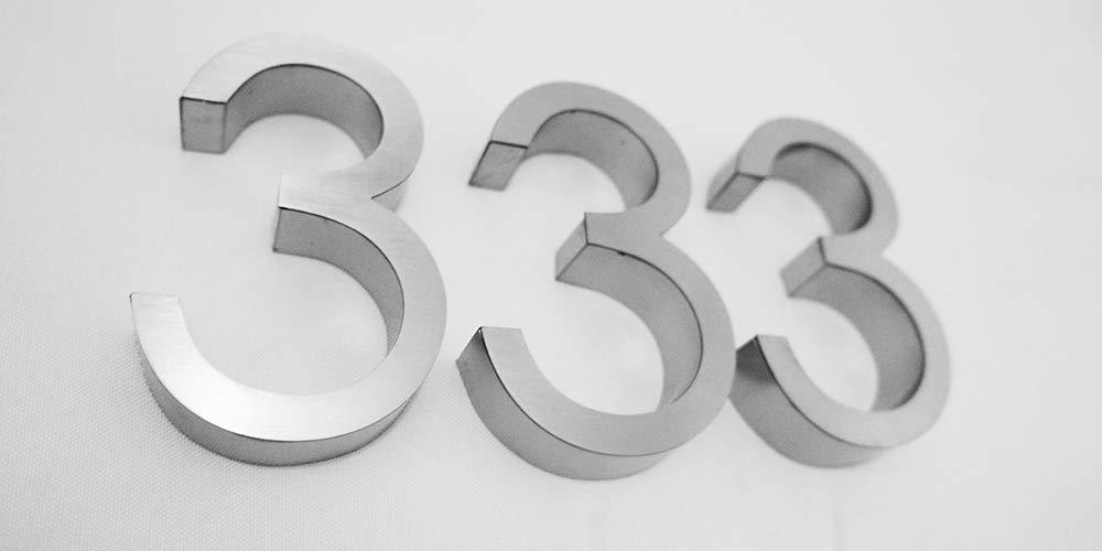 Amazon.com: Letras 3D 3D de acero inoxidable cepillado para ...