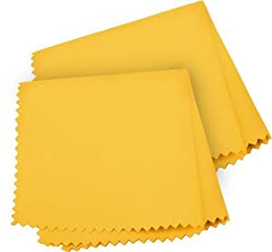 Xit XT2FC 2 Piece Fiber Cleaning Cloths (Yellow/White) by Xit