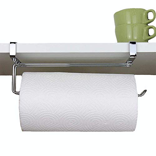 Pano Updated Size Paper Towel Holder Under Cabinet Stainless Steel Paper Rolls Rack Organizer 11.8