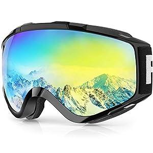 findway Masque de Ski, Lunettes de Ski Adulte Homme Femme OTG Compatible Casque Antibuée
