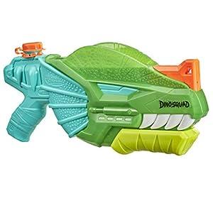 SUPERSOAKER- Lanzador Nerf Super Soaker DinoSquad Dino-Soak. Lanzamiento por Bombeo para Juegos con Agua al Aire Libre en el Verano, Multicolor (Hasbro F04965L1)