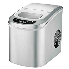 Portable Ice Maker Machine for Countertop TG24 – Makes 26 lbs of Ice per 24 hours – Ice Cubes ready in 8 Minutes – Residential Ice Maker By ThinkGizmos