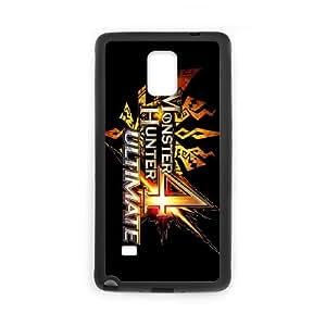 J1H66 Monster Hunter funda de casos de Ultimate U4J0SK funda Samsung Galaxy Note 4 teléfono celular cubren PR8JGD8VW negro