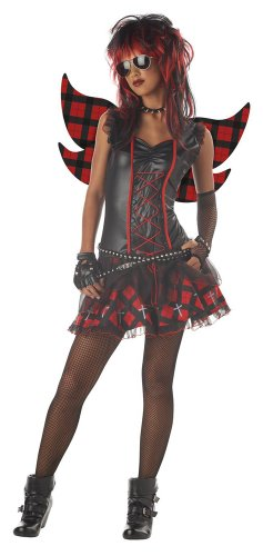 California Costumes Women's Rebel Fairy Costume, Black/Red,3-5 -