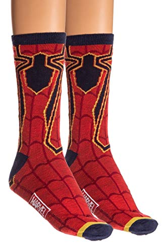 Adult Iron Spider Red/Navy 2-Pack Casual Crew Socks Standard