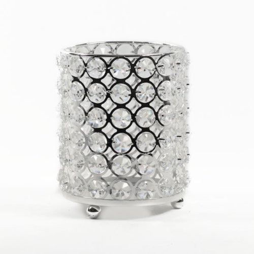 (Event Decor Direct Real Crystal Candle Holder-SM w/Chrome Finish 5.5
