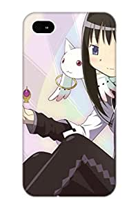 Judasslzzlc High Grade Flexible Tpu Case For Iphone 4/4s - Anime Puella Magi Madoka Magica( Best Gift Choice For Thanksgiving Day)