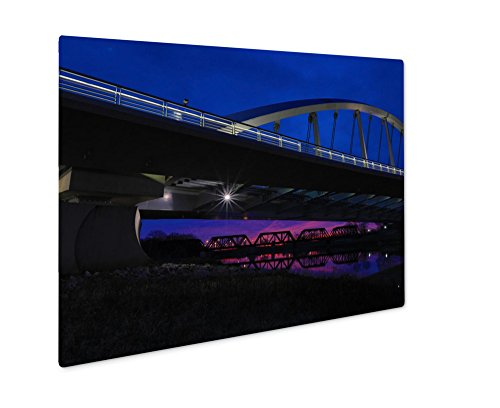 Ashley Giclee Metal Panel Print, The Majestic Main Street Bridge In Columbus Ohio At Sunset Offers A Glimpse Of, 8x10, - Columbus Ohio Times Sunset