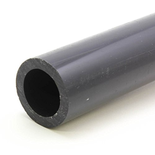 Premium Industrial PVC Pipe Schedule 80 Grey 1 1/2 Inch (1.5) Grey/PVC / 2 FT by VENTRAL