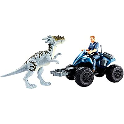 Jurassic World Deluxe Story Pack Off-Road Tracker ATV: Toys & Games