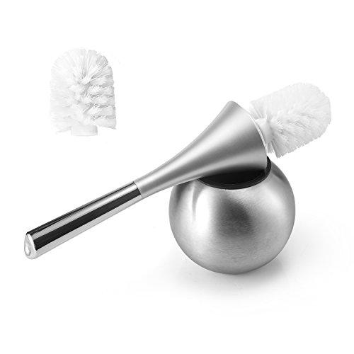 Shari Toilet Bowl Brush and Replaceable Brush Head - Swan(Sliver) - Household Shari