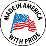 NMC HH75 2'' x 2'' PS Vinyl Hard Hat Emblem w/Legend: ''Made In America with Pride'', 12 Packs of 25 pcs