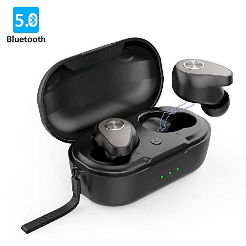 Wireless Earbuds, Bluetooth Headphones AAJO Bluetooth 5.0 Earbuds【True Wireless Stereo】 with Charging Case Headphones Waterproof in-Ear Built-in Mic Headset Premium Sound with Deep Bass for S