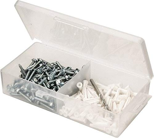 200 Piece, 8 to 10 Screw, Plastic & Steel Hex Drive Anchor Assortment pack of 3