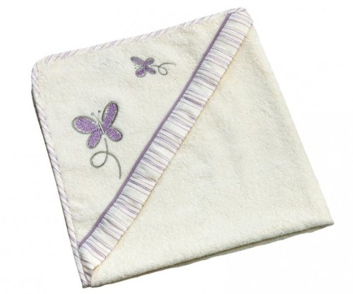Be Bes Collection 785-26 Kapuzenbadetuch Butterfly 80x80 lila