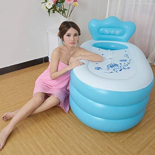 Piscinas hinchables Bañera Inflable Bañera De Hidromasaje Baño Barril De Baño Bañera De Adulto Curado Bañera Plegable PVC Piscina Inflable para Niños + Bomba De Aire Eléctrica: Amazon.es: Hogar