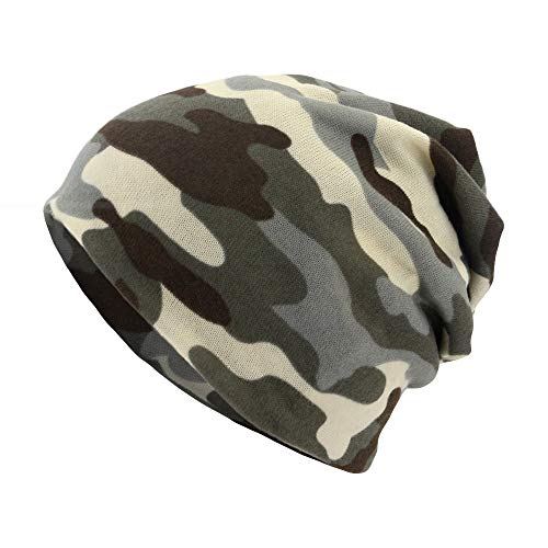 YOMXL Unisex Camouflage Turban Hat,Chemo Cancer Hair Loss Scarf Beanie Cap Baggy Slouchy Outdoor Windproof Hats