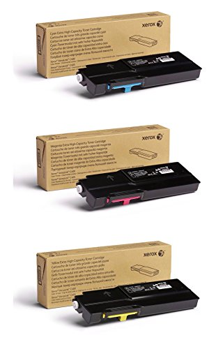 Xerox Cyan/Magenta/Yellow Extra High Capacity Toner Cartridge Set (106R03525, 106R03526, 106R03527) - 8000 Pages - for use in VersaLink C400/C405