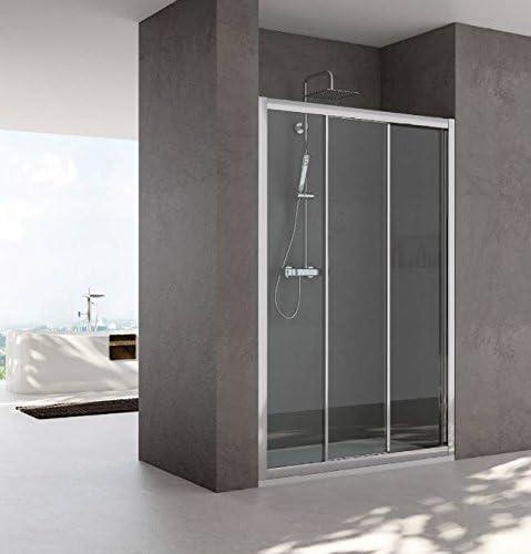 Mampara de ducha con nicho modelo Nara-Mate-plata pulido 190 cm-90 ...