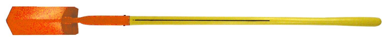 Nupla TS-V4-E Ergo Power Trenching Shovel, 4'' V-Type Blade, Ergo Grip, 14 Gauge, 48'' Long Handle