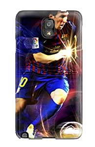 Hot FVvckmb148wwpft Case Cover Protector For Galaxy Note 3- Beautiful Lionel Messi World Best Player