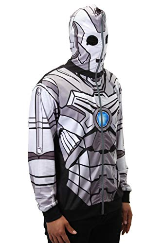 elope Dr. Who Cyberman Full Zip-Up Hoodie Mens S -