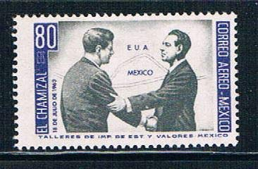 Mexico 1964 John F Kennedy Postage Stamp, Catalog No C282 (John Stamp Kennedy F)