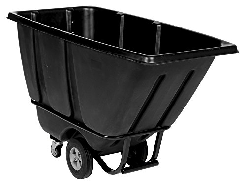 Vestil TDT-50-HD-BLACK Heavy Duty Tilt Truck, 1/2 cu. yd., Black by Vestil
