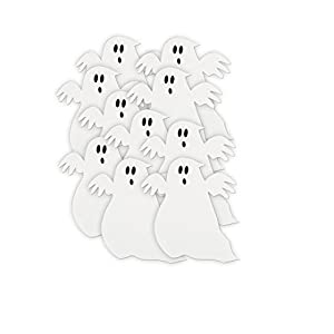5 paper cutout ghost halloween decorations 10ct