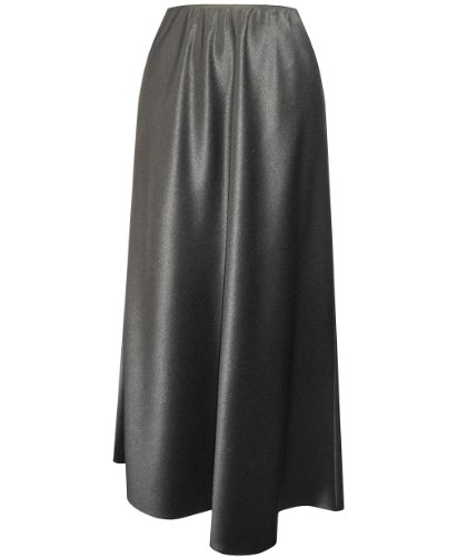 Plus Size Black Satin Skirt --Size: 1x Color: Black