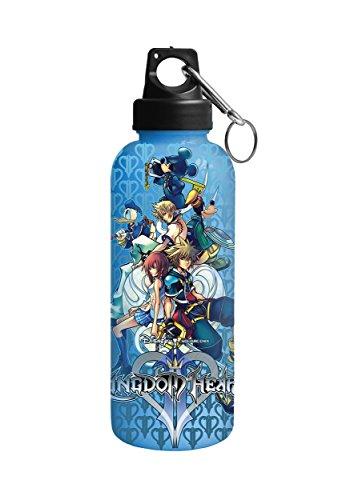 Silver Buffalo KH0389AL Disney Kingdom Hearts Aluminum Water Bottle with Carabineer, - Heart Water