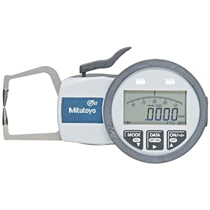 Image of Mitutoyo 209-570 Caliper Gauge, Inch/Metric, Pointed Jaw, 0-0.39' Range, +/-0.0008' Accuracy, 0.0002' Resolution, Meets IP63/IP67 Specifications Home Improvements