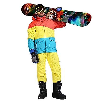 Traje de esquí para Hombres Chaqueta de esquí cálida ...