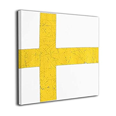 WONDER 4 Flag of Sweden Modern Wall Decor/Home Decor Canvas Wall Art Stretched and Ready to Hang