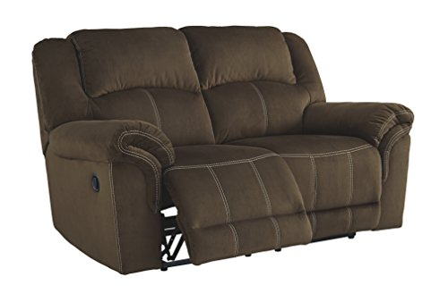 Signature Design by Ashley 9570186 Quinn Lyn Reclining Loveseat, Coffee