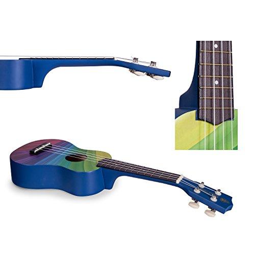 Honsing Soprano Ukulele Beginner Hawaii kids Guitar Uke Basswood 21 inches with Gig Bag- Rainbow Stripes Color matte finish - Image 4