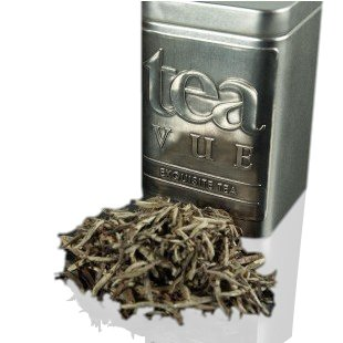 Tea Vue Organic Tea White Loose Leaf Silver Needle (Fuding Bai Hao Yin Zhen Tea) from Fuding, China, NET WT 3.35 ounces (95 g) by Tea Vue