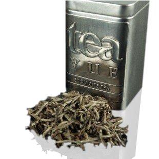 Tea Vue Organic Tea White Loose Leaf Silver Needle (Fuding Bai Hao Yin Zhen Tea) from Fuding, China, NET WT 3.35 ounces (95 g)
