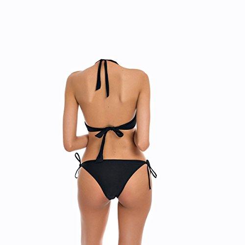 Lazo Negro KUWOMINI.European Y América Dama Traje De Baño Bikini Flesh