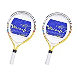 weierfu 2 Pack Junior Tennis Racket for Kids Toddlers Starter Racket 17' with Cover Bag Light Weight(Strung)