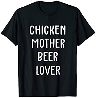 Cool Gift Chicken Mother Beer Lover  -Chicken Gift Mother's Day Women Long Sleeve Funny Shirt / Navy / S - 5XL