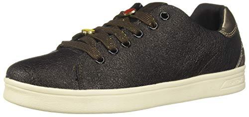 d0a65fa4 Geox Girl's Djrock Sneaker, Gold, 30 EU/12 M US Little Kid