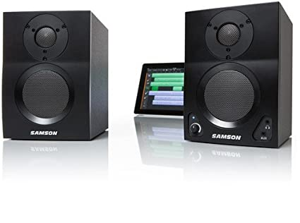 Samson MBT4 Active Studio Monitors with Bluetooth Samson Audio Accessory Electronics Home Audio & Theater