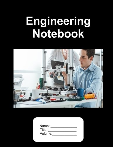 Engineering Notebook. 100 Pages.  8.5'x11'