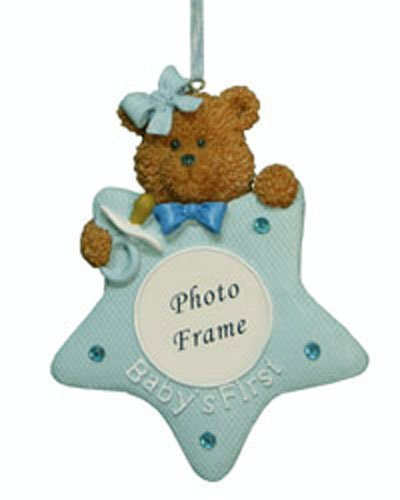 Picture Frame Christmas Ornaments for Boys [7091427BOY] (Northstar Ornament)
