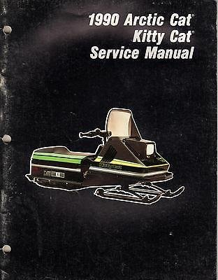 1990 ARCTIC CAT KITTY CAT SNOWMOBILE SERVICE MANUAL P/N 2254-572 (237)
