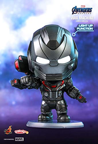 Hot Toys HT Cosbaby Original War Machine Light Up Function Marvel Bobble Heads Collectible Figures Avengers 4 Endgame Miniature Figurines COSB566 Models Kits Collection Birthday